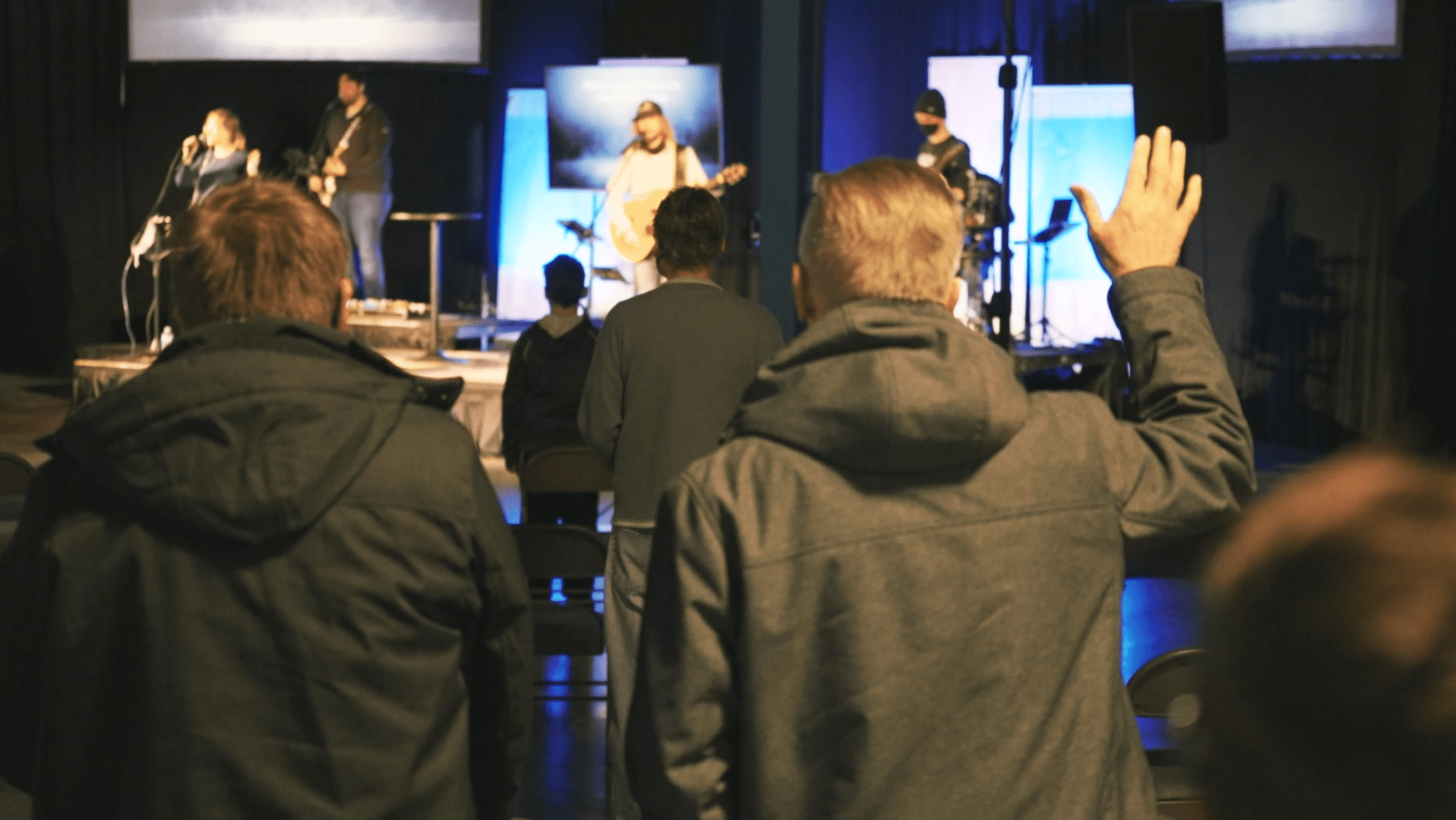 God's people worshiping